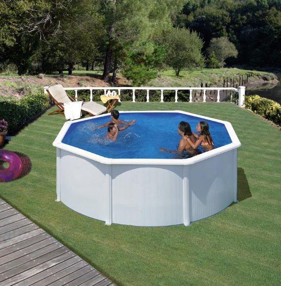 Okrugli montažni bazen GRE - set (dubina 1,2m)