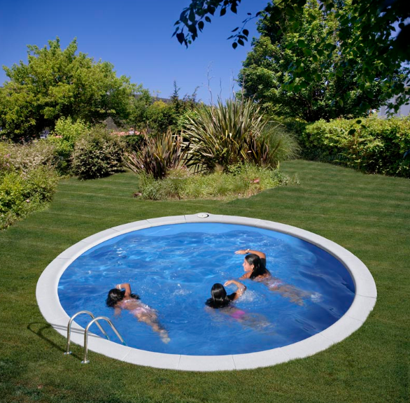 Okrugli montažni bazen GRE ukopni - set (dubina 1,2m)