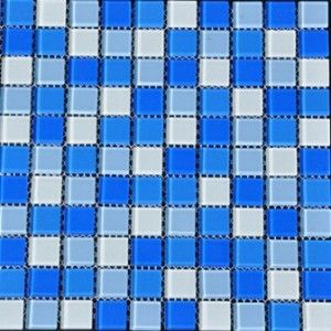 Kristalni stakleni mozaik plavo belo (kod: 5580)