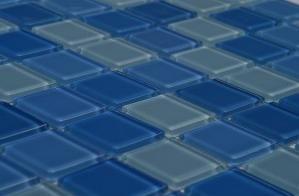 Kristalni stakleni mozaik Aquamarin SLO082
