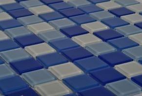 Kristalni stakleni mozaik Blue Lagoon SLO083