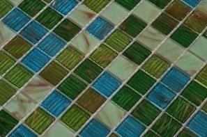 Stakleni mozaik Smaragd G35+G65+G64+G61