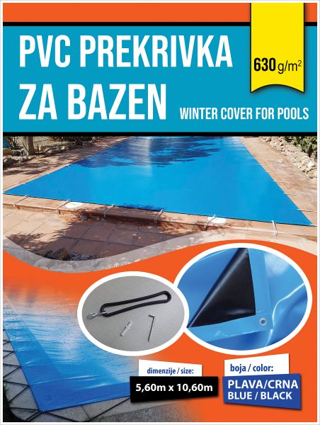 Zimski prekrivac za bazene sa tegovima SS